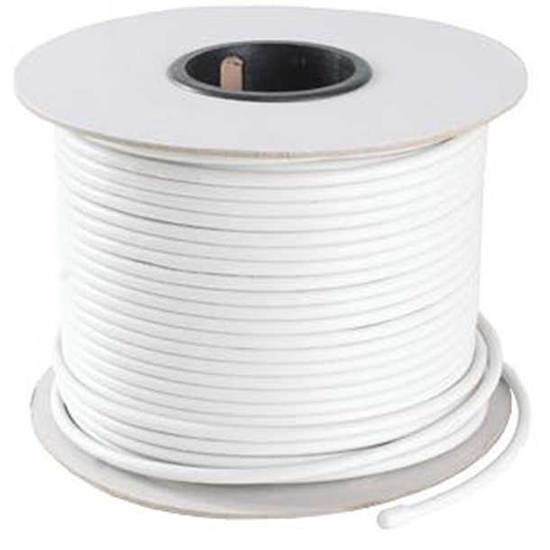 Kabel Coax radio/tv 750HM 6mm hvid/1m