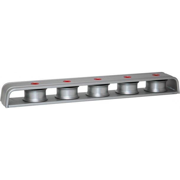 Easy fordelerblok m/5 hjul sølv