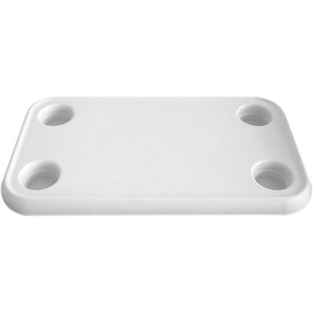 Bordplade ABS hvid 80x60cm
