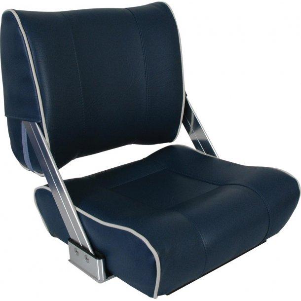 Bådsæde Luxus Blå/lysegrå