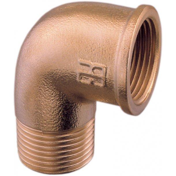 Bøjning bronze 90° indv./udv. 2''