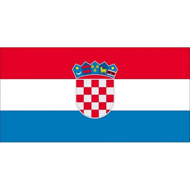 Gæsteflag Kroatien trykt 30x45cm