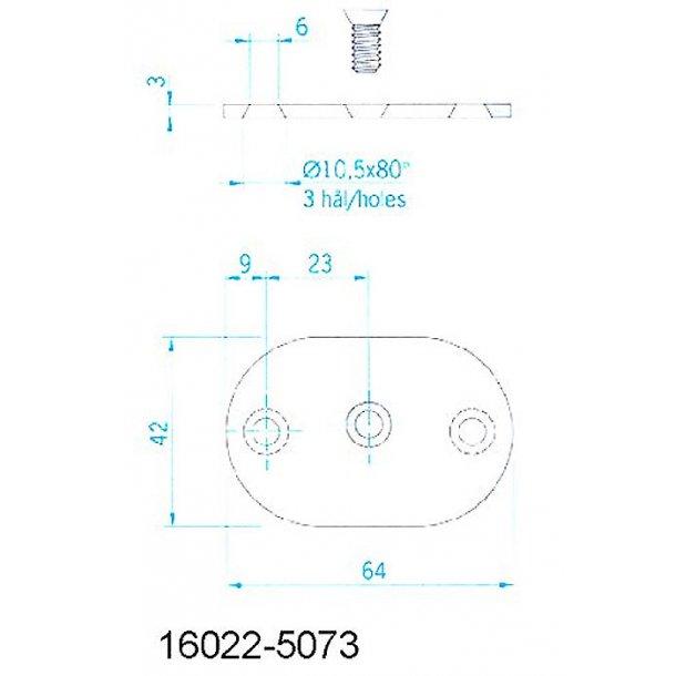 Håndliste RF 195x60mm