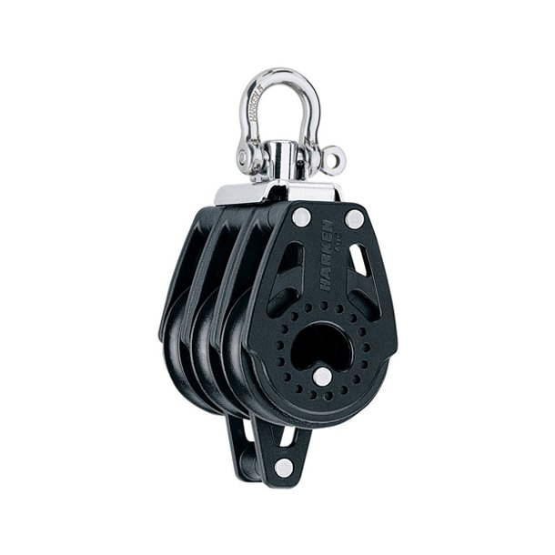 Harken Carbo 40mm triple blok m/hunsvot