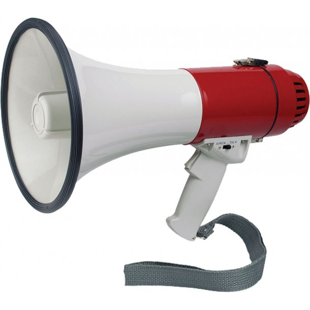 Megafon m/sirene 16W
