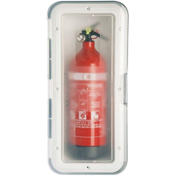 Ildslukkerskab for 2kg m. transp. låge