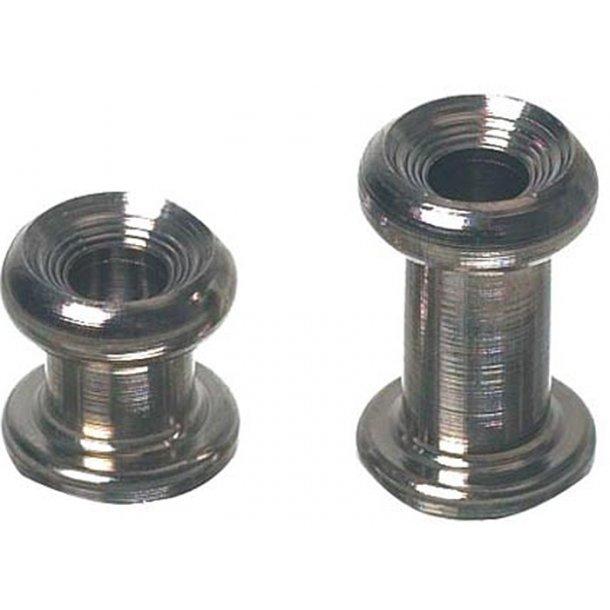 Kalecheknap H.11mm m/hul mess. 5-stk