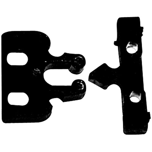 Skuffe/låge-lås plast 33x35mm