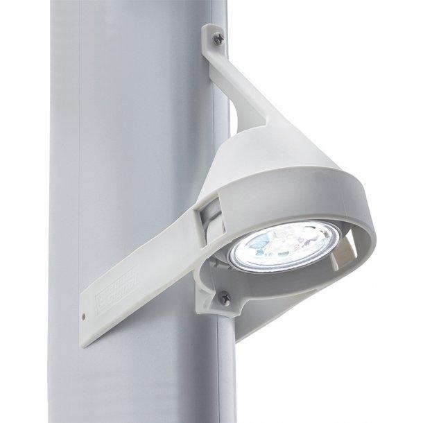 Dækslys LED mast hvid