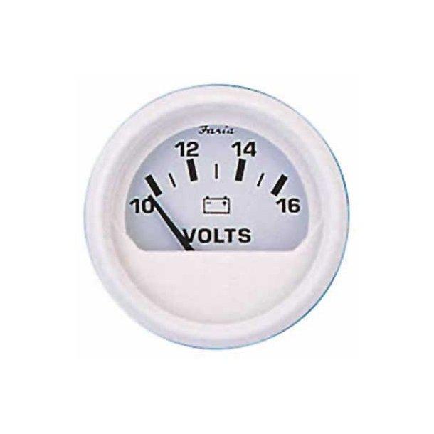 Faria Voltmeter 12v hvid