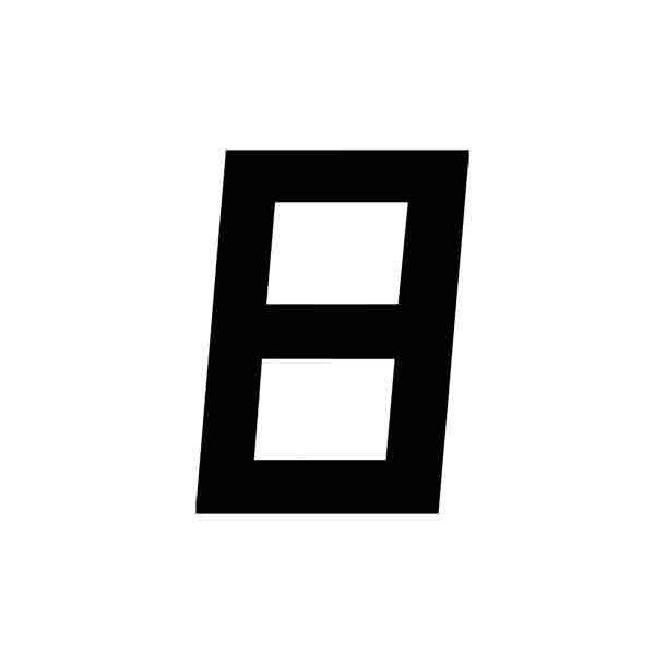 Sejlnummer sort H. 12'' 300mm