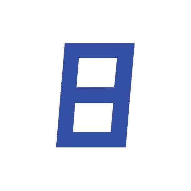Sejlnummer blå H. 15'' 380mm