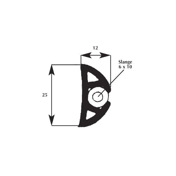 Fenderliste 12x25mm