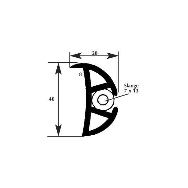 Fenderliste 8-20x40mm
