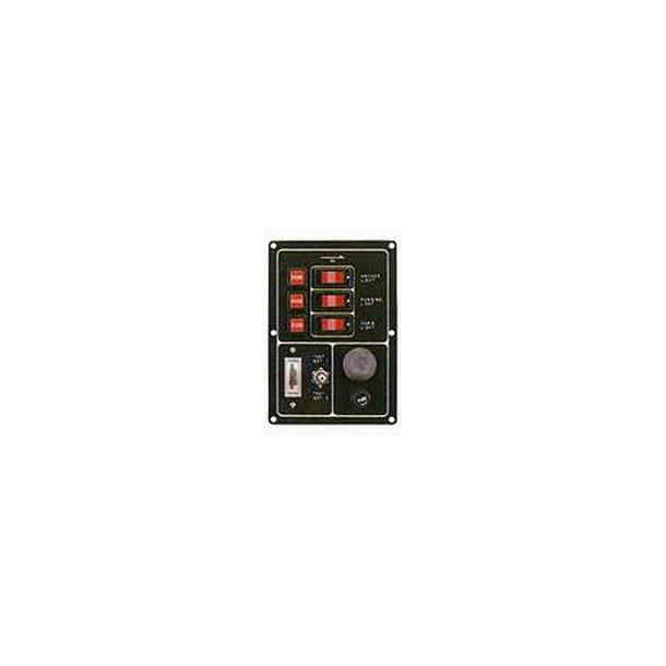El-panel 3 kontakt/horn/test
