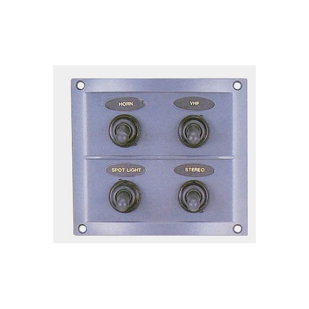 El-panel 4 kontakt m/gummi