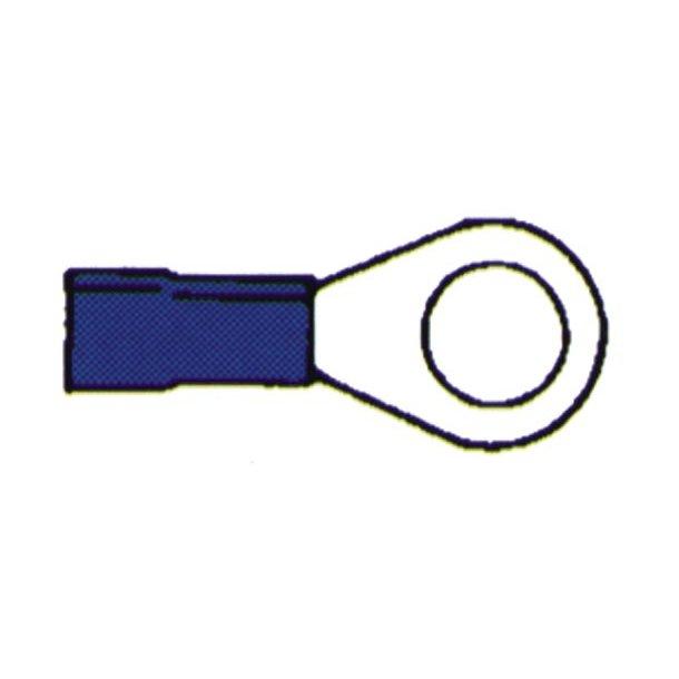Kabelsko ring ø6mm blå 10 stk
