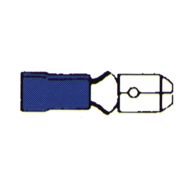 Kabelsko Rundstik han blå 10 stk