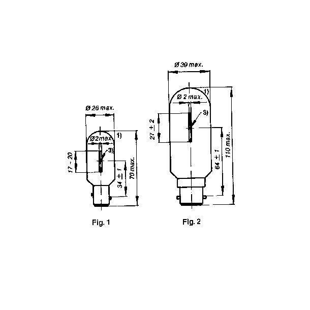 Lanternelampe BA15d 24v 25W/18CD