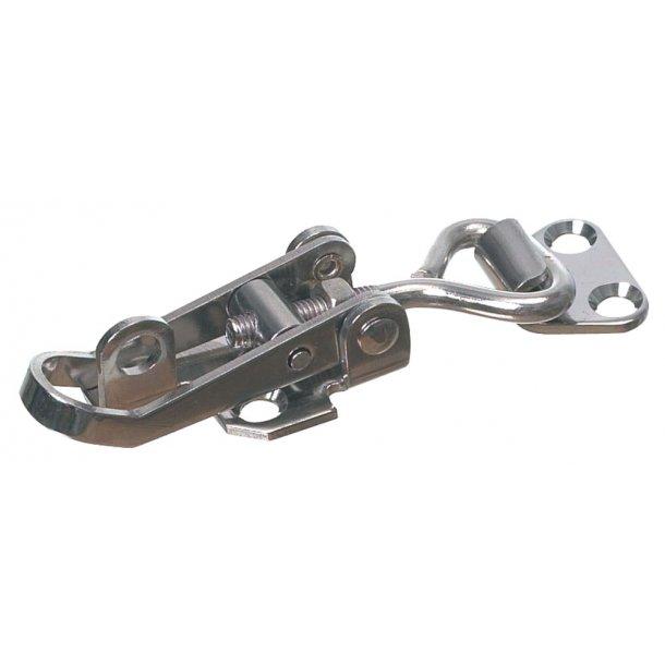 Spændeoverfald rustfri 155x40mm