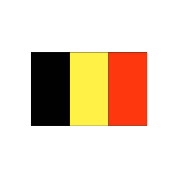 Gæsteflag Belgien trykt 30x45