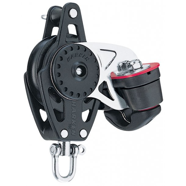 Harken Carbo 75mm enkeltblok m/cam/hv