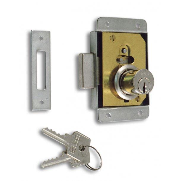 Påmonteret lås m/låseblik 25mm