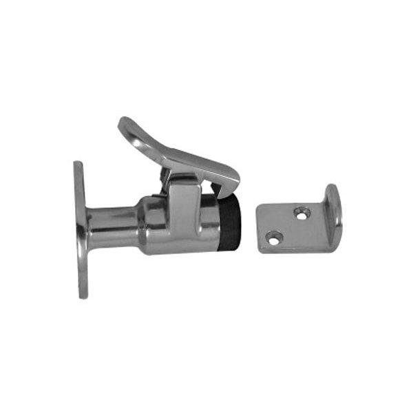 Dørholder m/fangkrog rustfri stål