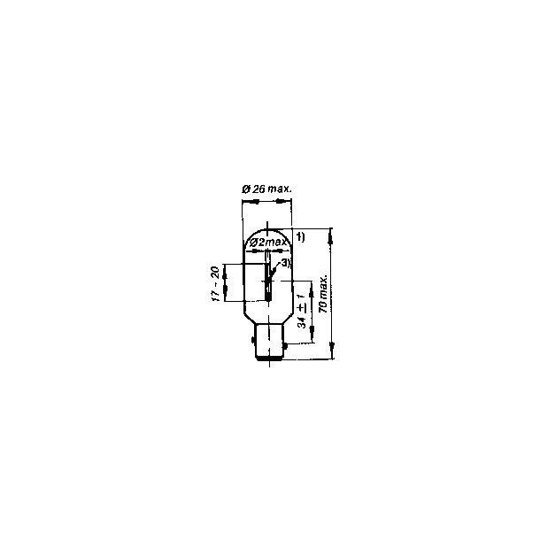 Lanternelampe BAY15d 24v 25/18