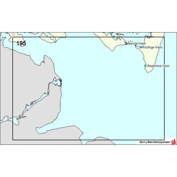 Søkort DA 195 Østersøen W-lige del