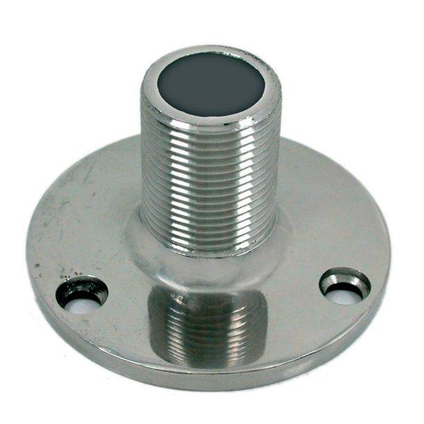 Antennefod f/planmontering rustfri stål