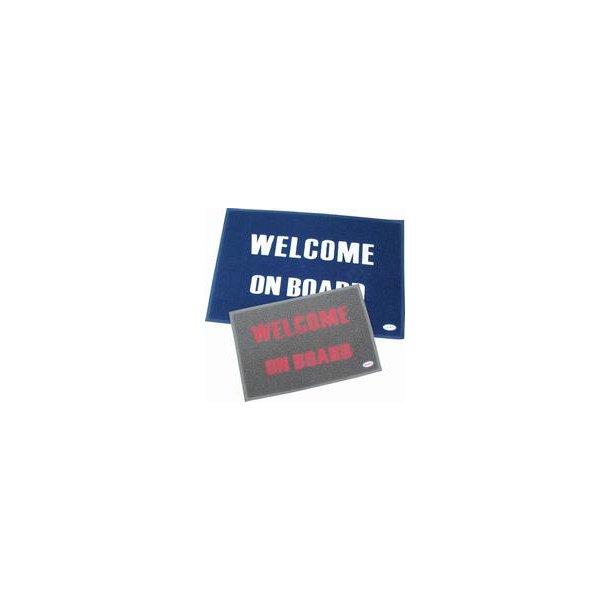 Måtte Welcome on Board 40x60cm blå