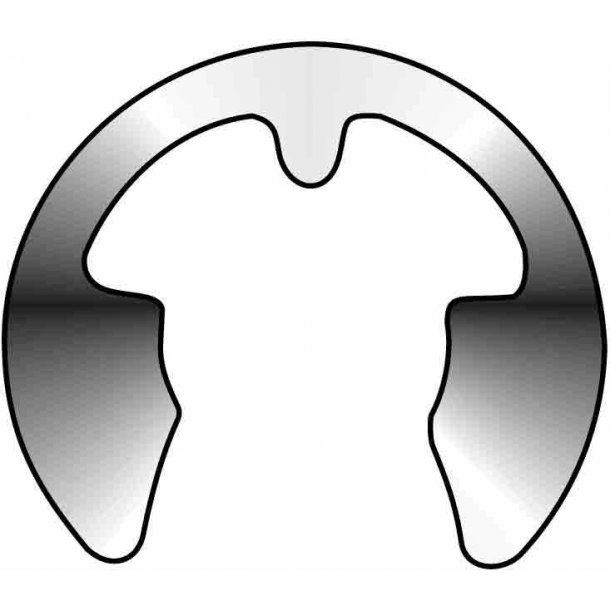 Låseskiver Hestesko A2 4.0 mm 10/stk