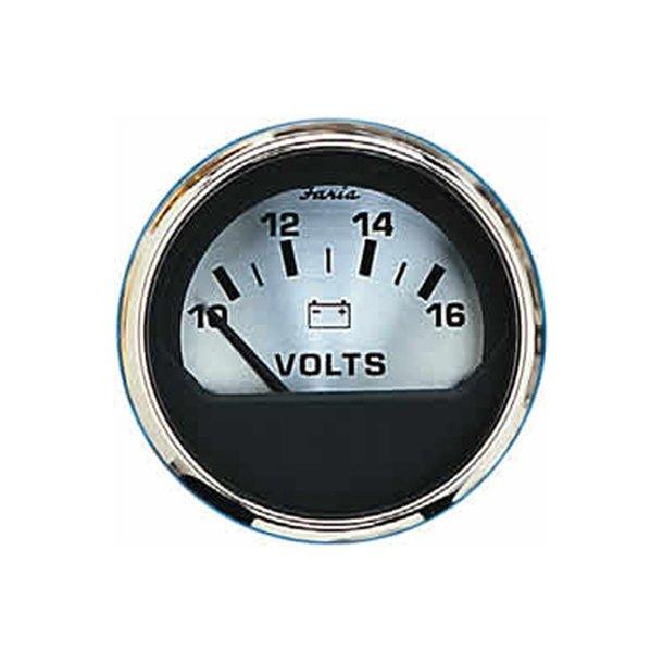 Faria Voltmeter 12v spunsilver