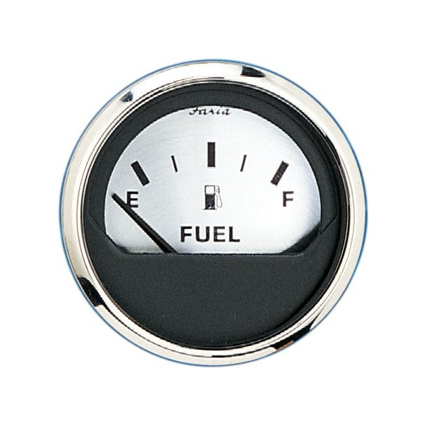 Faria Brændstofmåler spunsilver USAmodel