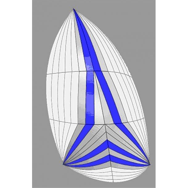 Genakker Hvid/grå/blå 65 m2