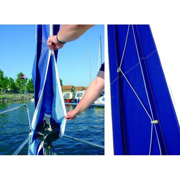 Rulleforsejls overtræk 38 cm blå pr. m.