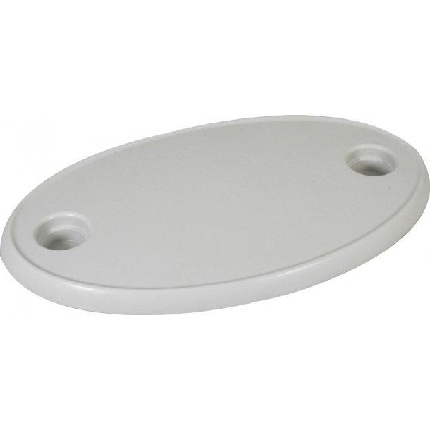Bordplade ABS hvid oval 77x51 cm