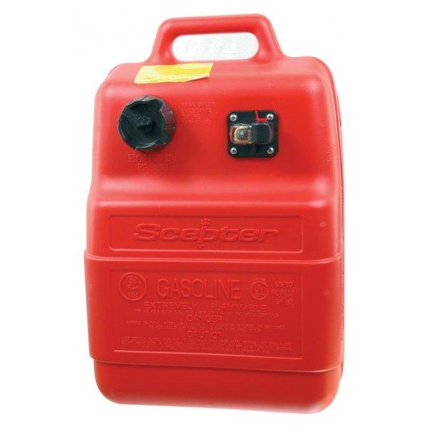 Benzintank plast 25 ltr. påhængsmotor