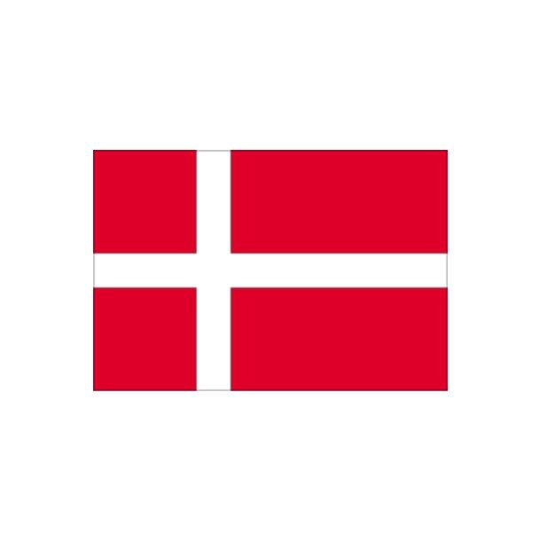 Gæsteflag Danmark trykt 30x45cm