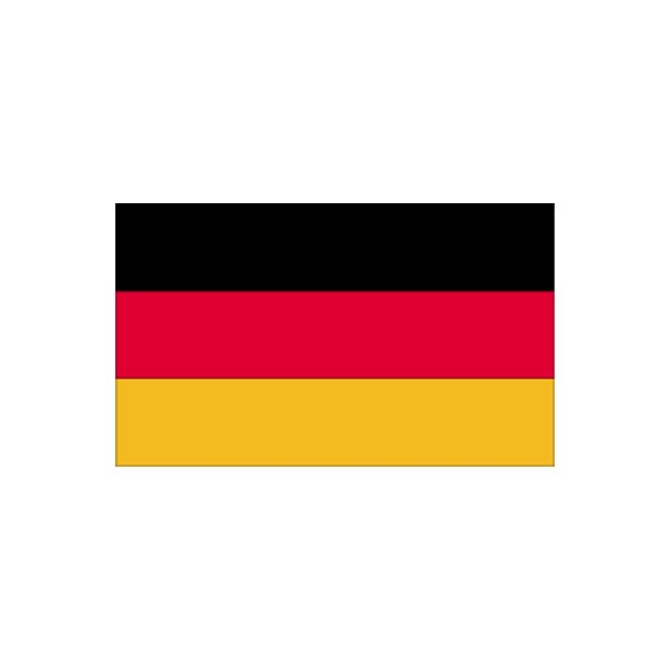 Gæsteflag Tyskland trykt 30x45cm