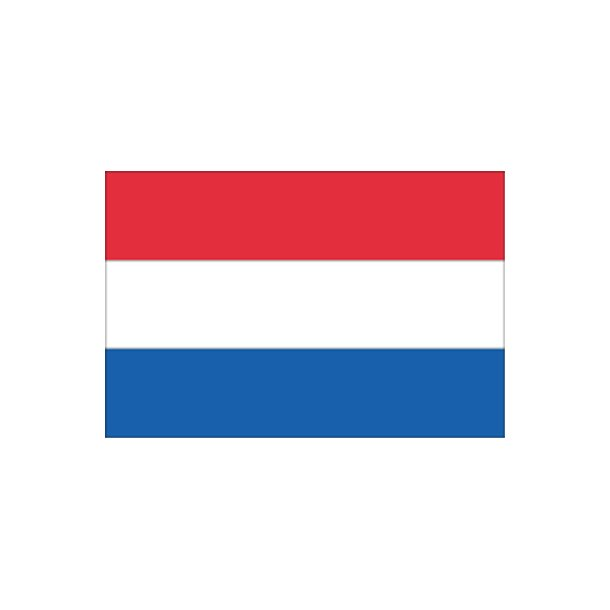 Gæsteflag Holland trykt 30x45cm