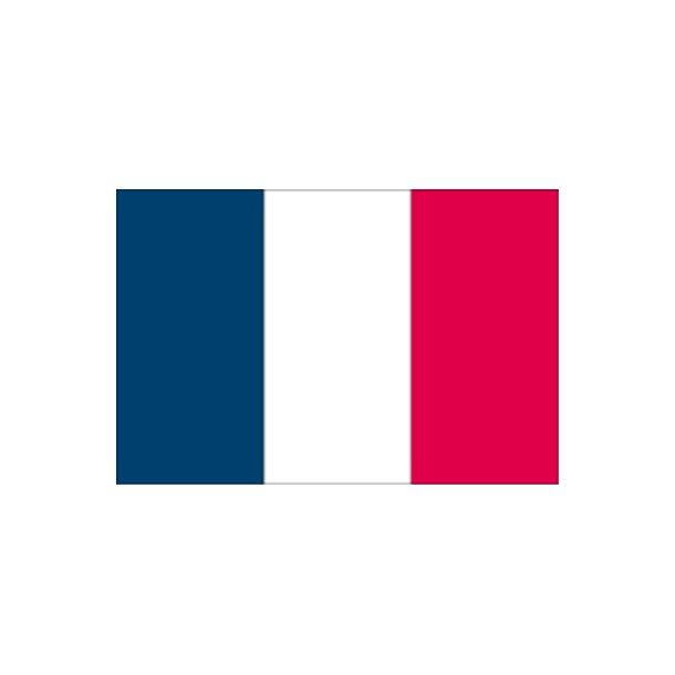 Gæsteflag Frankrig trykt 30x45cm
