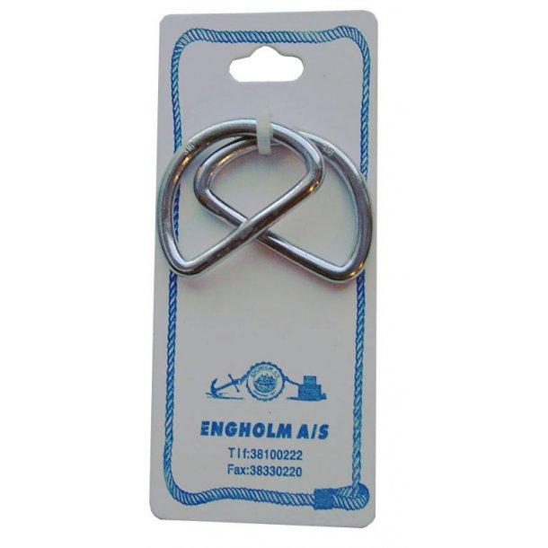 D-ring rustfri 20 x 3mm 2-stk
