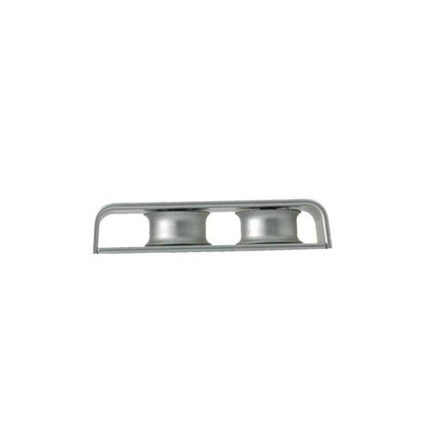 Easy fordelerblok m/2 hjul sølv
