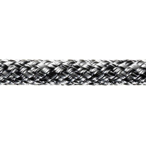 SIRIUS 500 m/sjækel sort/sølv Ø 8mm