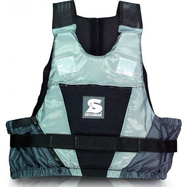 Svømmevest JUMP 40-70 kg. grå sort