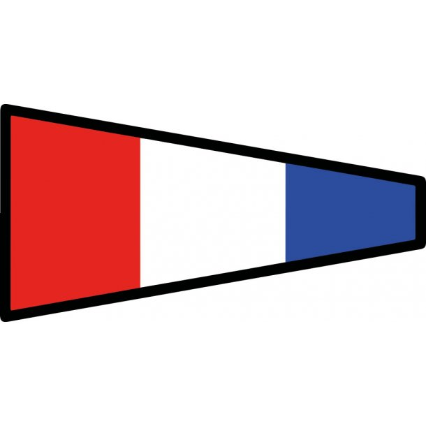 Signalflag vævet 30x45cm 3