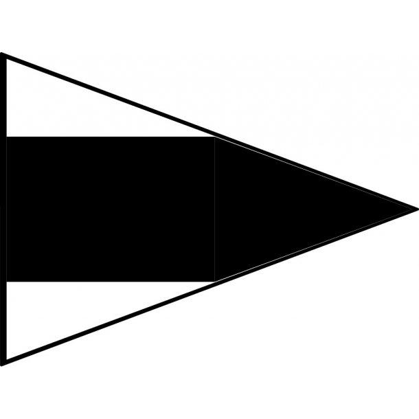 Signalflag vævet 30x45cm 3 RIP