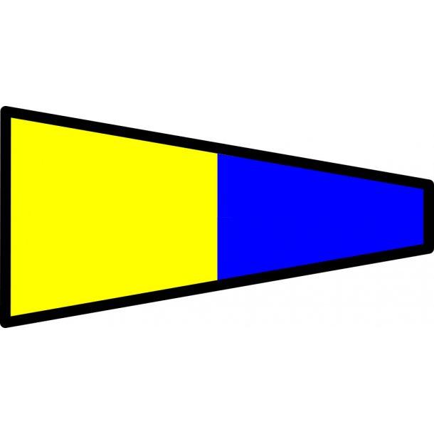 Signalflag vævet 30x45cm 5